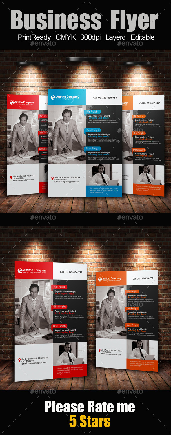 A4 Business Flyer Template - Flyers Print Templates