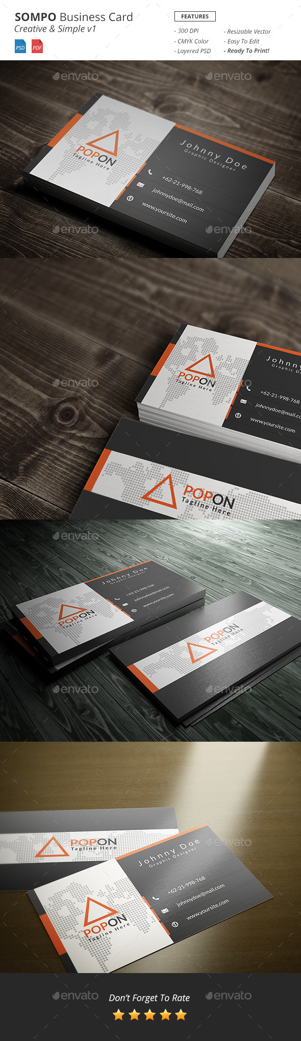 Sompo - Creative Bussiness Card Template v1 - Creative Business Cards