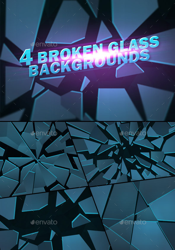 Broken Glass Backgrounds - Abstract Backgrounds