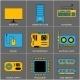 Set of Flat Line Design Icons - GraphicRiver Item for Sale