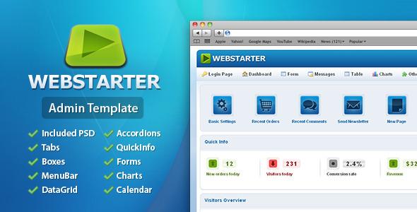 Free Download WebStarter Admin Template Nulled Latest Version