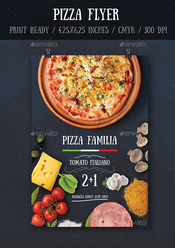 Pizza Flyer Template By Bugsster  Graphicriver