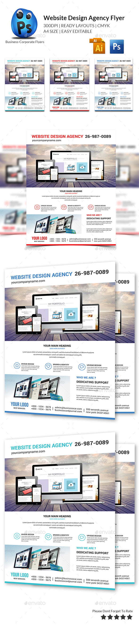 Website Design Agency Flyer - Flyers Print Templates