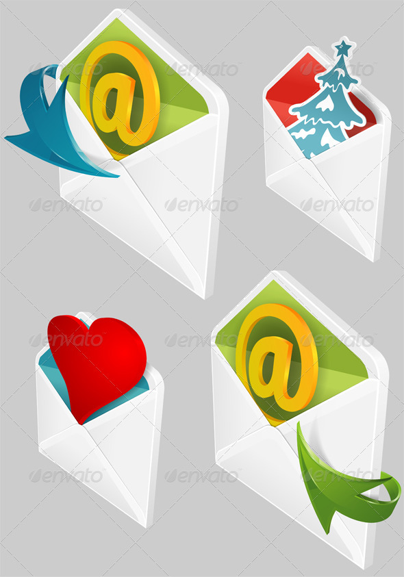Set of Envelopes - Communications Technology