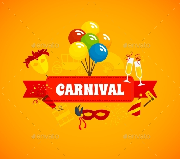 Carnival Flat Background - Miscellaneous Seasons/Holidays