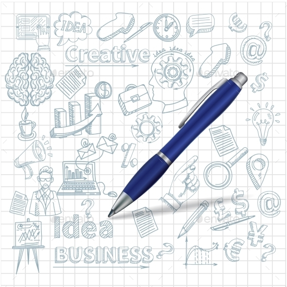 Creative Background with Pen - Business Conceptual