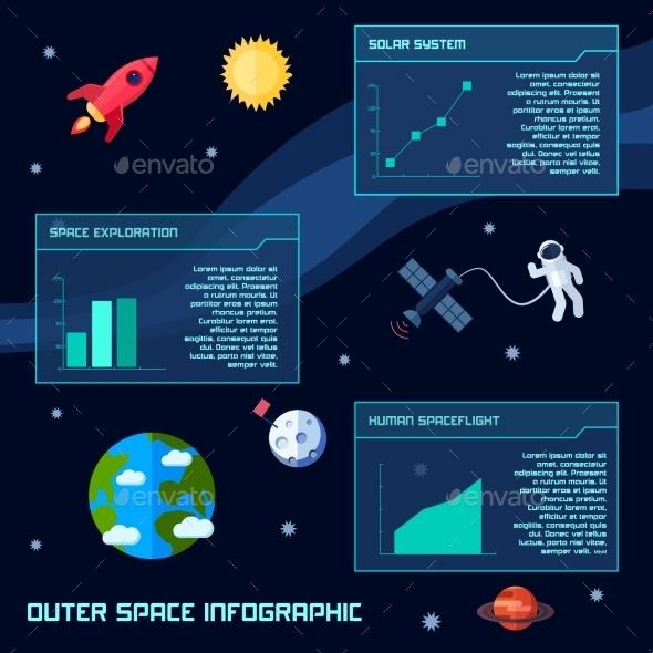 Space Infographic Set - Miscellaneous Vectors