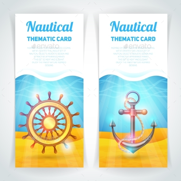 Marine Banners Set - Travel Conceptual