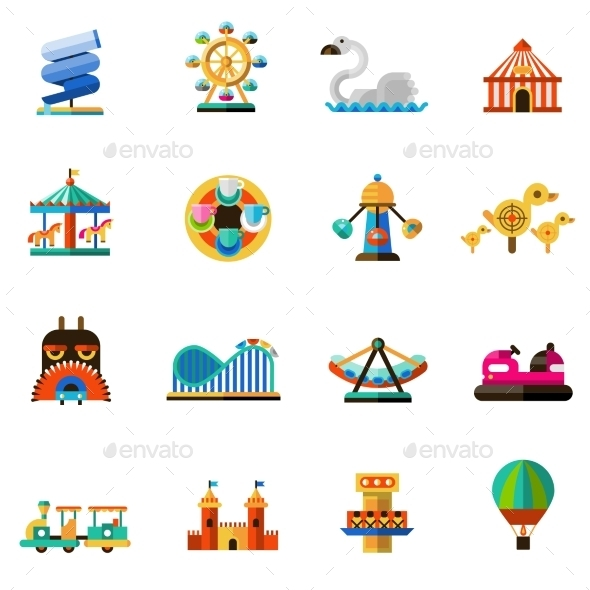 Amusement Park Icons - Miscellaneous Vectors