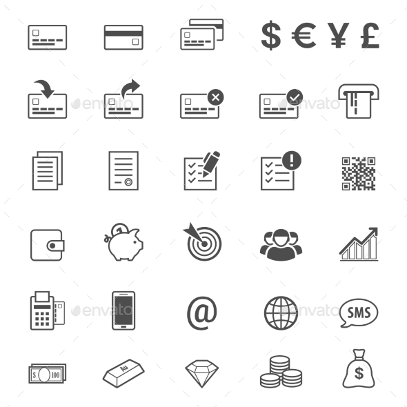 Finance and Banking Icon Set - Business Conceptual