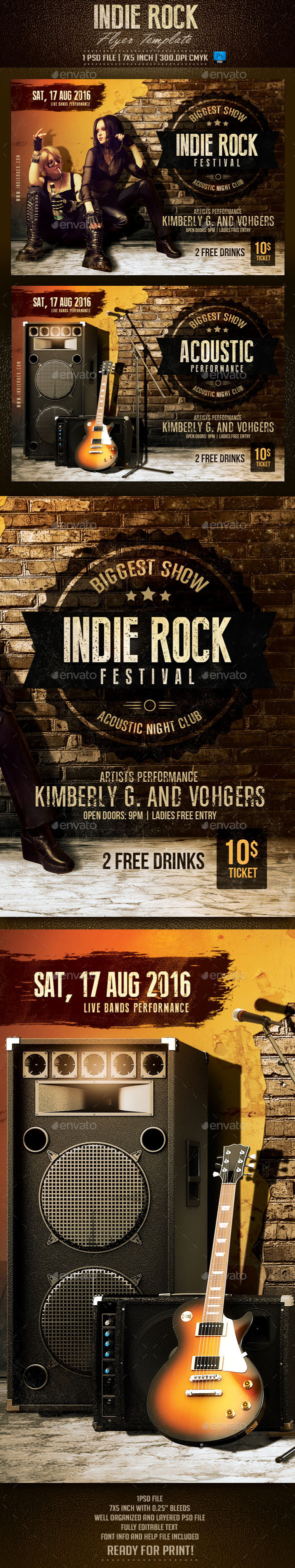 Indie Rock Flyer Template - Events Flyers