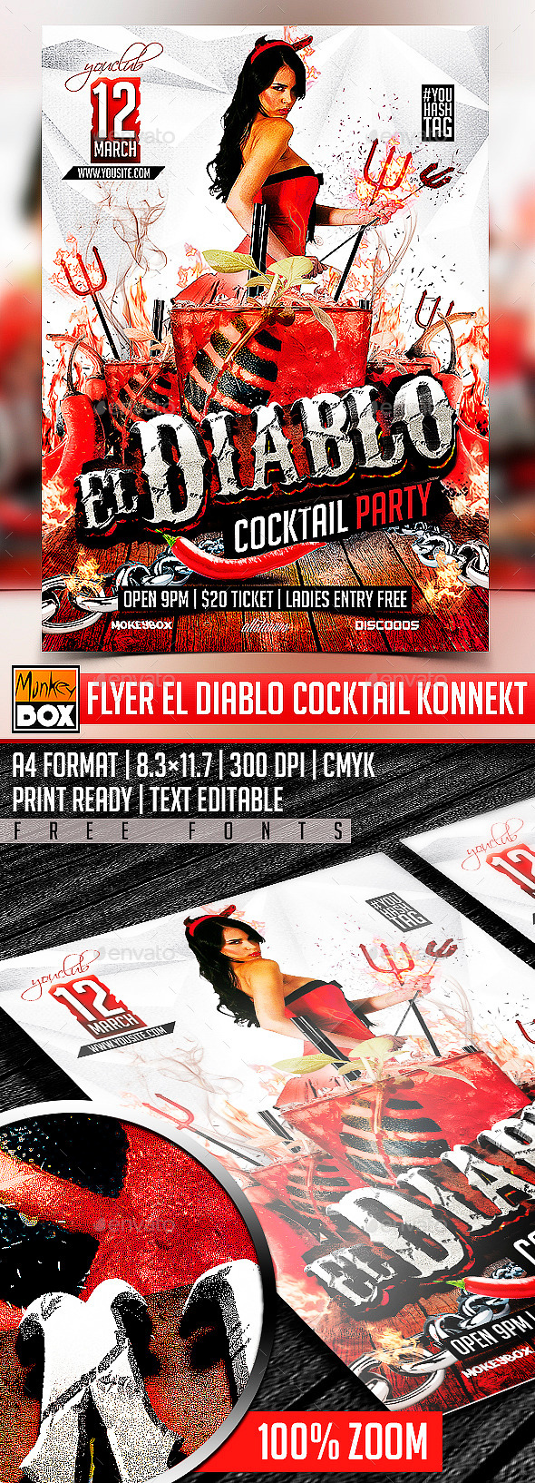 Flyer El Diablo Cocktail Konnekt - Clubs & Parties Events