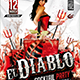 Flyer El Diablo Cocktail Konnekt - GraphicRiver Item for Sale