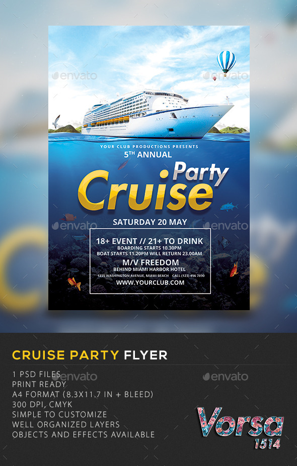Cruise Party Template - Clubs & Parties Events