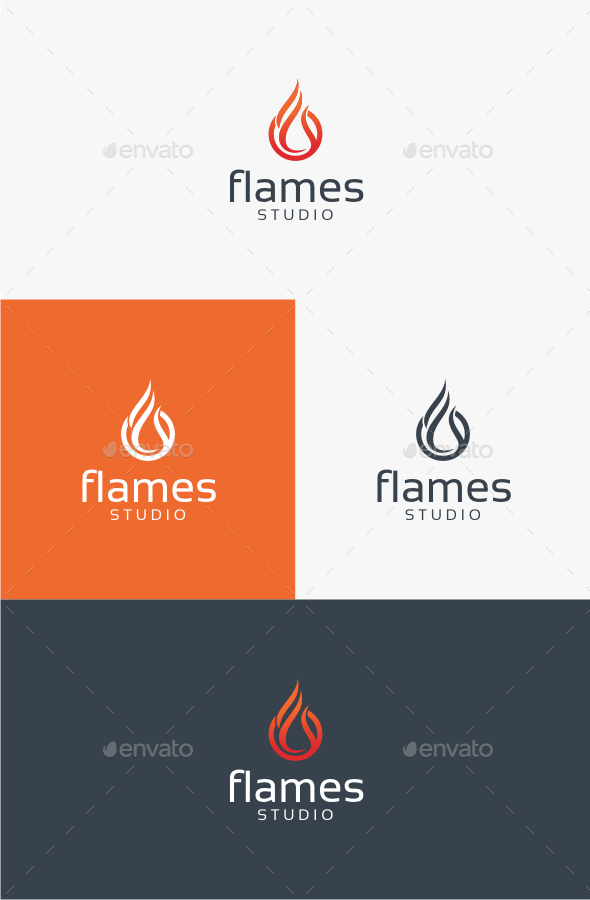 Flames - Logo Template - Abstract Logo Templates