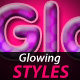 Glowing Text styles - GraphicRiver Item for Sale