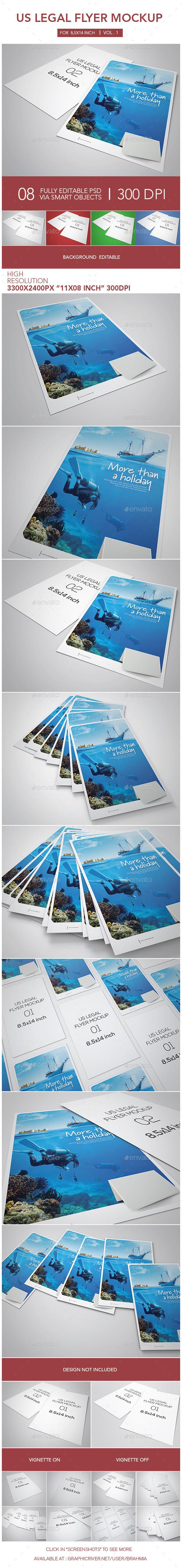 Us Legal Flyer Mockup - Flyers Print