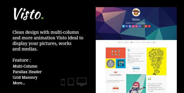 Visto | Multi-column , Responsive Tumblr Theme