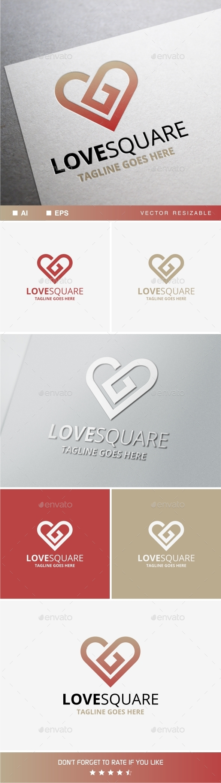Love Square - Symbols Logo Templates