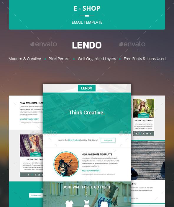 Lendo - E-shop Template - E-newsletters Web Elements