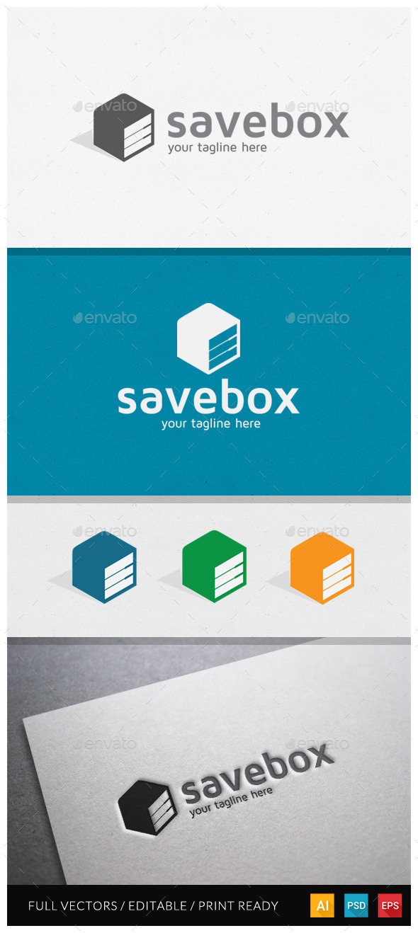 Savebox Logo Template - Objects Logo Templates