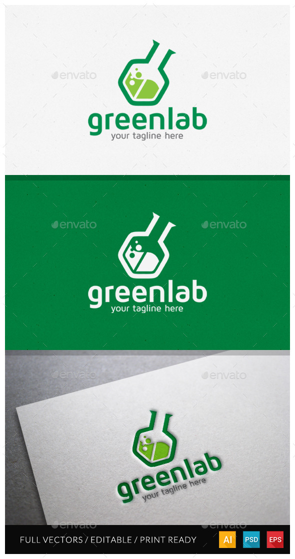 Greenlab - Modern Logo Template - Objects Logo Templates