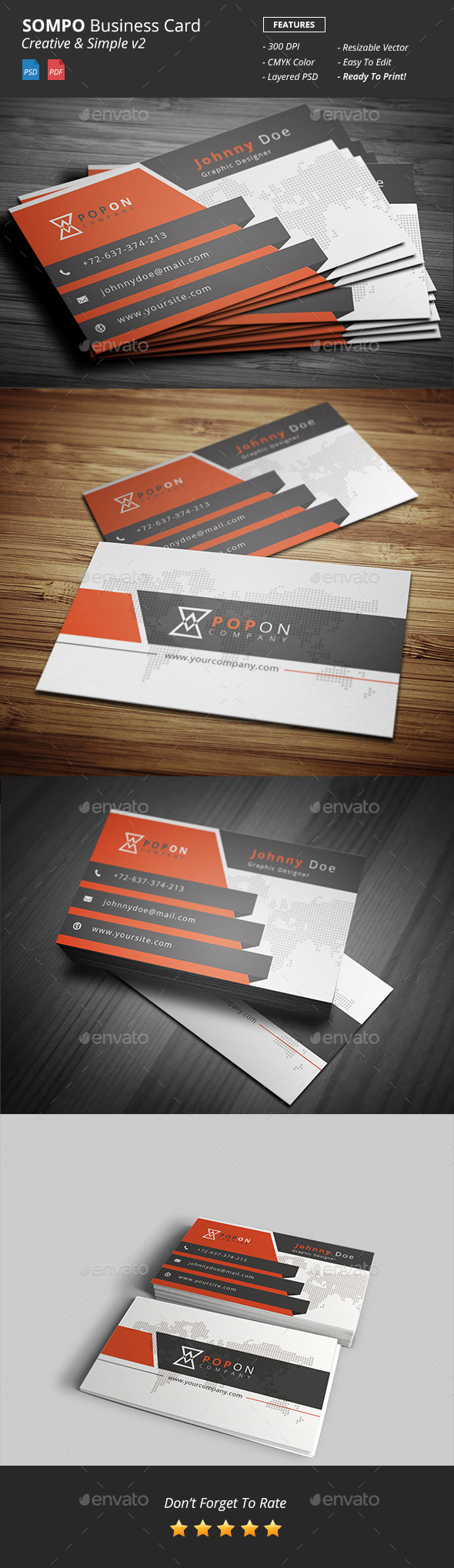 Sompo - Creative Bussiness Card Template v2 - Creative Business Cards