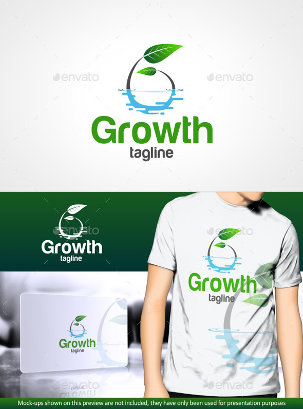 Growth G letter - Logo Templates