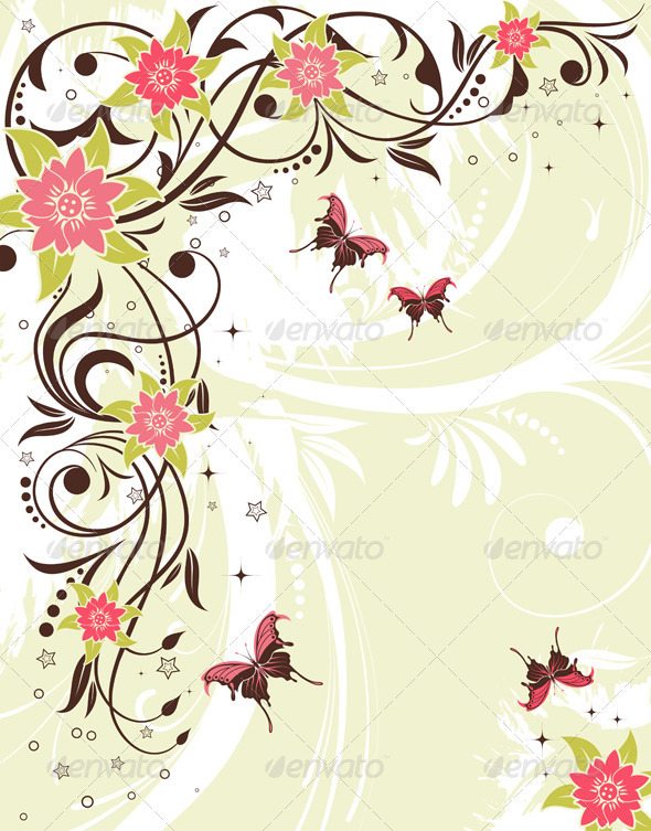 Flower Frame - Flourishes / Swirls Decorative
