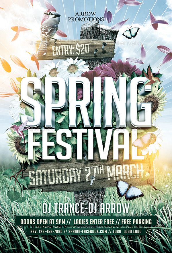 Spring Festival Flyer Template By Arrow3000 Graphicriver
