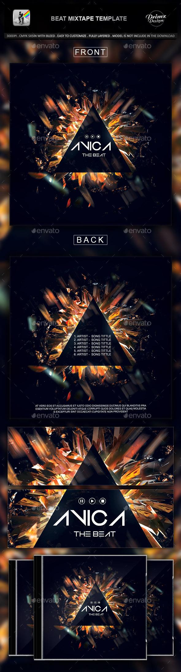 Beat Mixtape Template - CD & DVD Artwork Print Templates