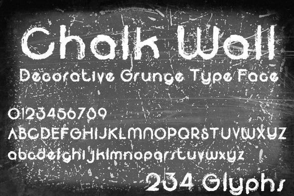 Chalk Wall - Grunge Decorative