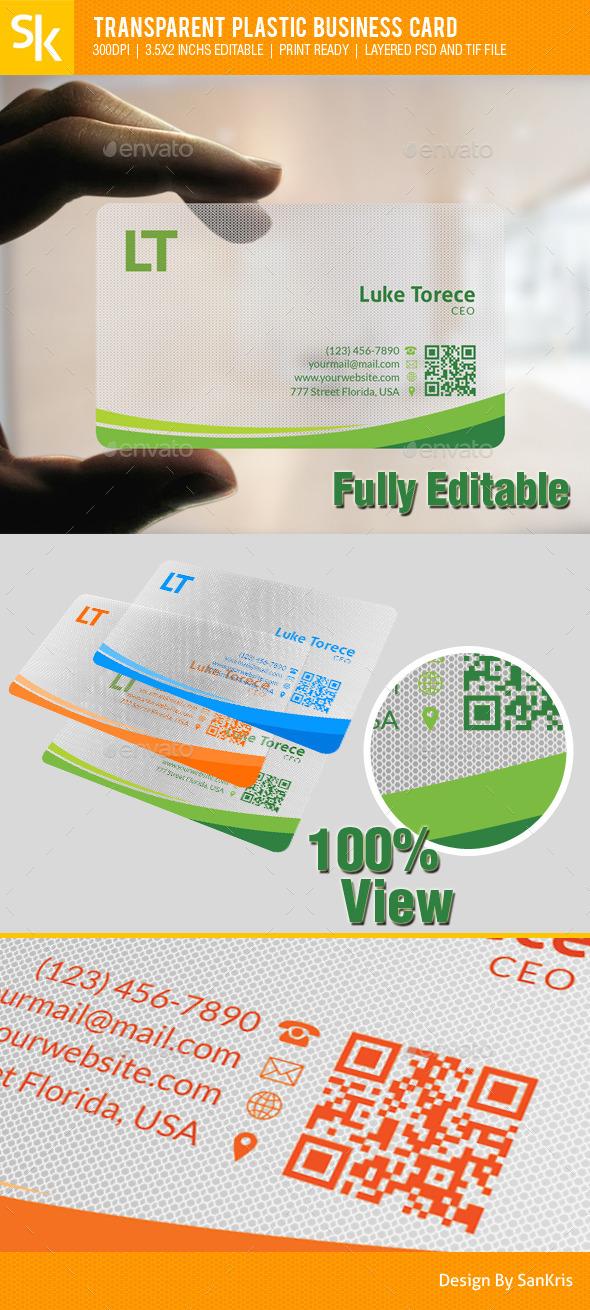 Transparent Plastic Business Card - Corporate Business Cards