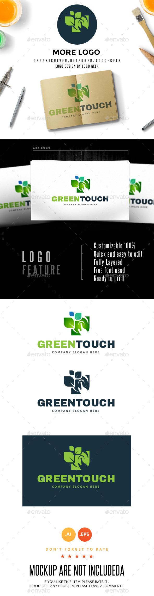 Green Touch - Logo Templates