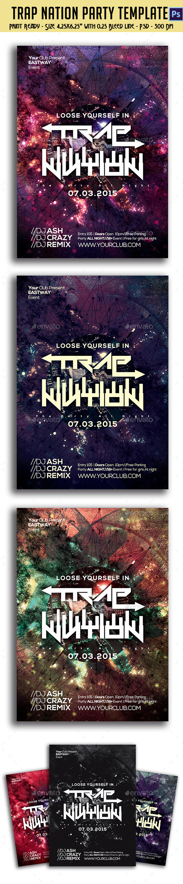 Trap Nation Party Flyer - Clubs & Parties Events