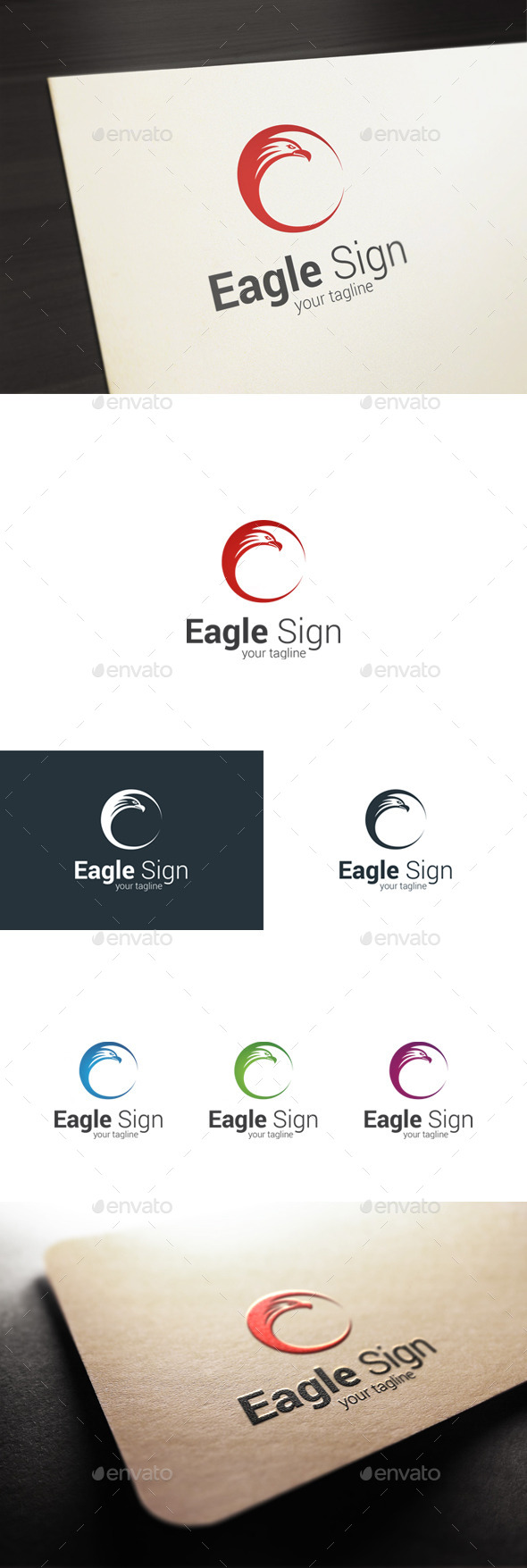 Eagle Sign Logo - Animals Logo Templates