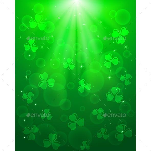Green Patricks Day Background - Backgrounds Decorative