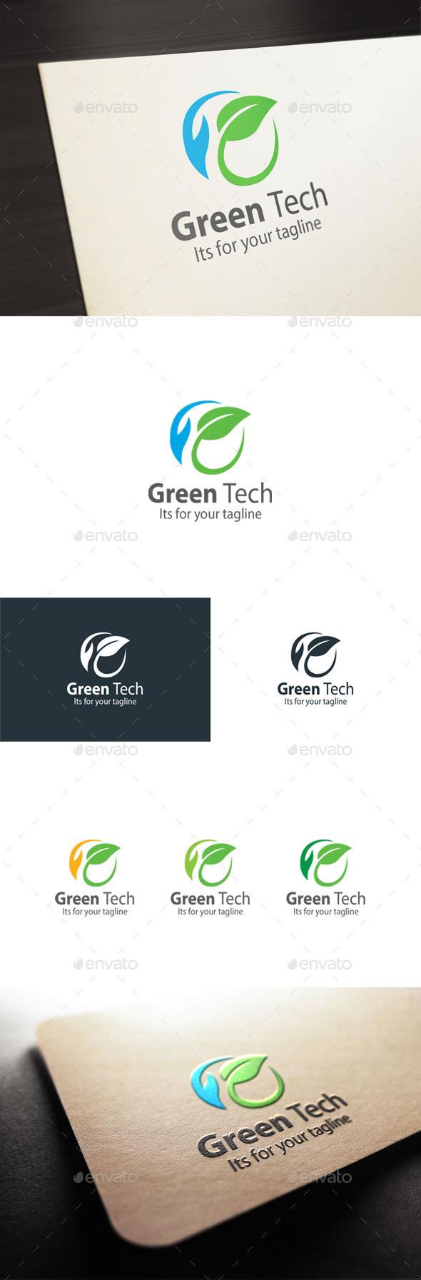 Green Tech - Nature Logo Templates