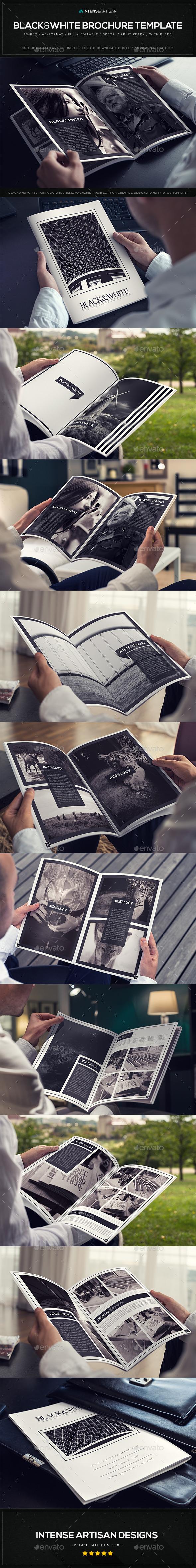 Black & White Brochure Template V.1 - Catalogs Brochures