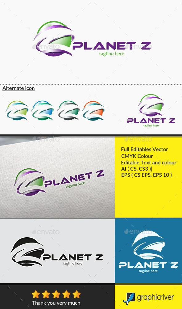 Letter Z - Planet Z - Letters Logo Templates