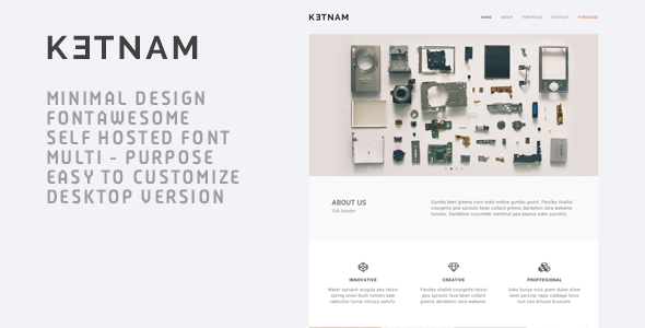 Ketnam – Creative Muse Template