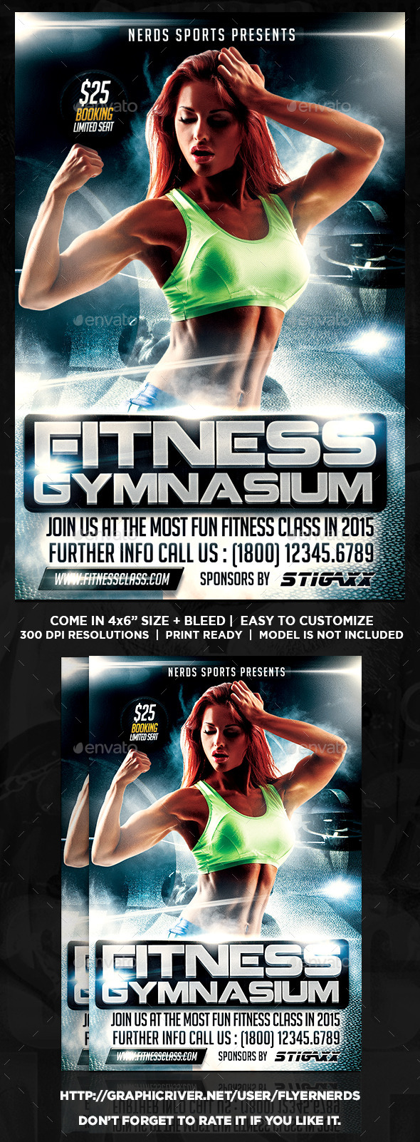 Fitness Class 2015 Sports Flyer - Sports Events