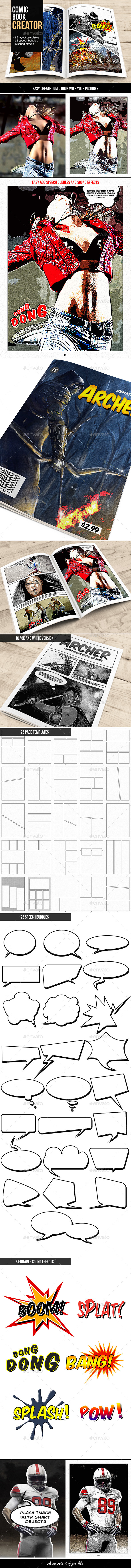Comic Book Creator - Artistic Photo Templates