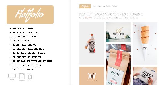 FLATFOLIO - Premium Portfolio & Agency HTML Theme