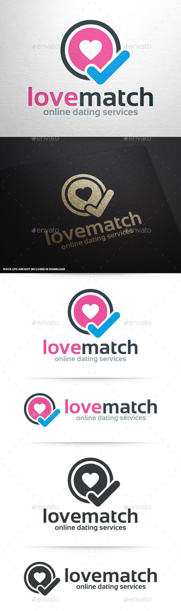 Love Match Logo Template - Symbols Logo Templates