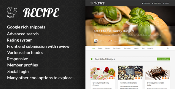 Recipe – WP Theme For Recipes