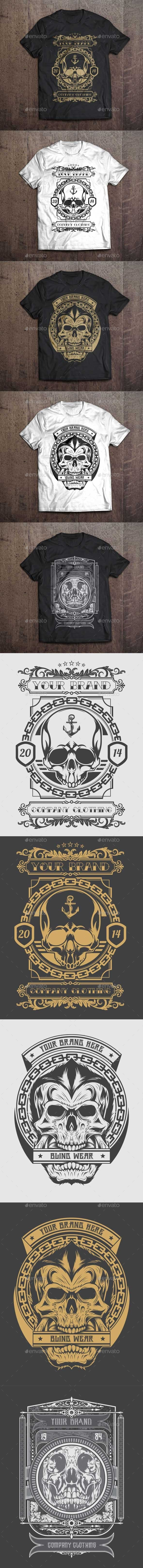 3 T-Shirt Illustration - Skull Theme - Designs T-Shirts