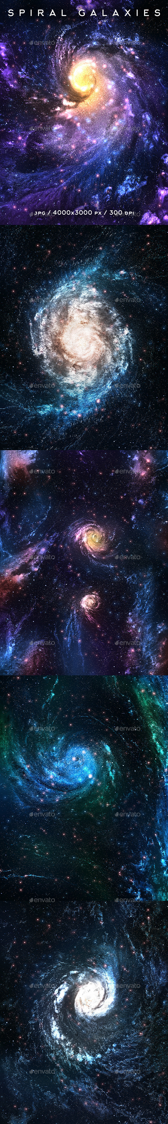 Spiral Galaxies - Abstract Backgrounds