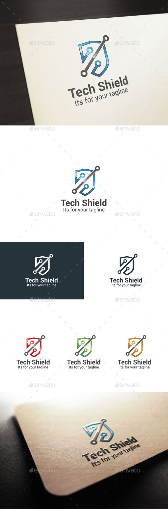 Tech Shield - Symbols Logo Templates