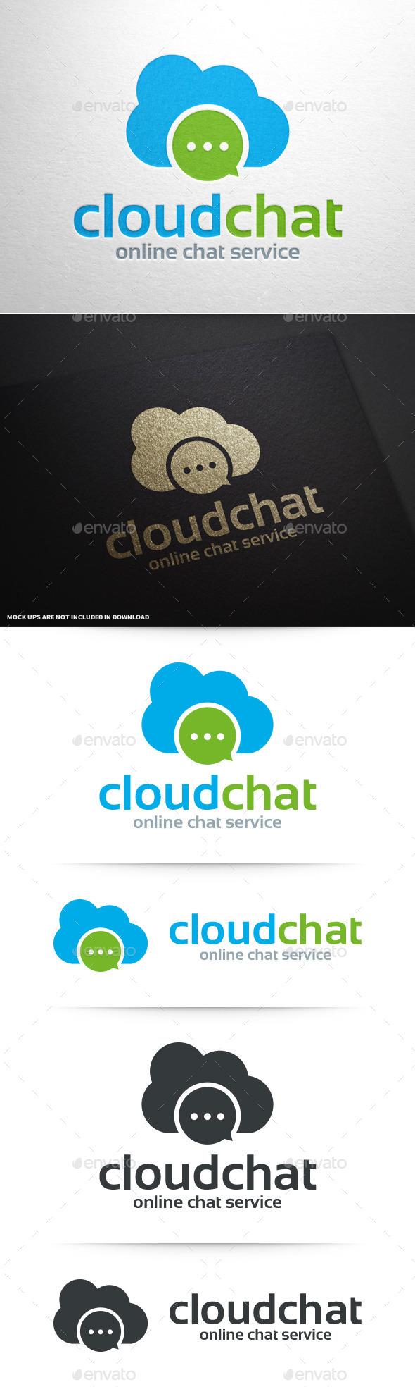 Cloud Chat Logo Template - Symbols Logo Templates